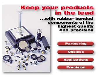 rubber bonded components